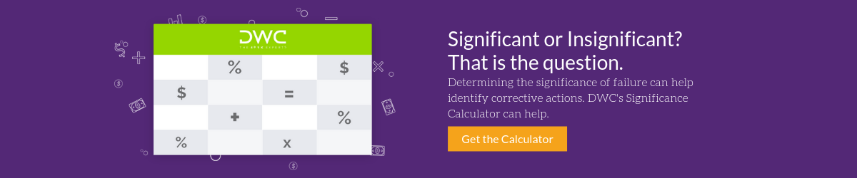 Download DWC's Significance Calculator