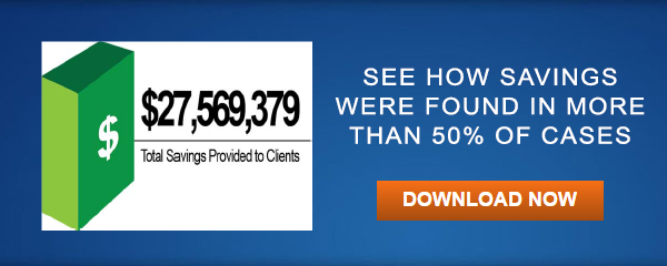 See how savings was found in more than 50% of cases