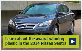 Award winning plastic in the 2014 Nissan Sentra Asahi Kasei Plastics