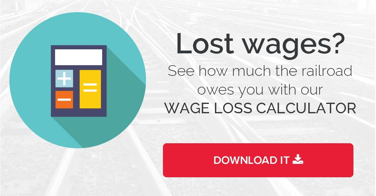 wage loss calculator railroad