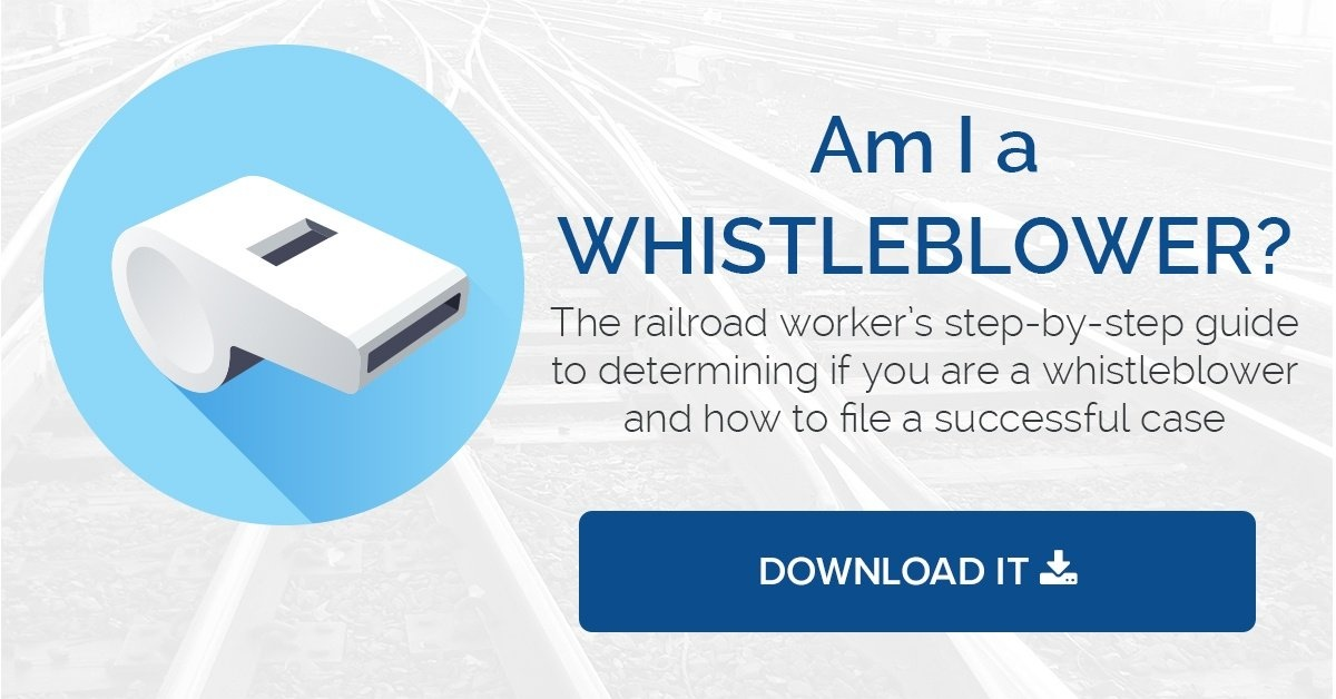 A free guide for railroad workers who think they have a whistleblower claim.