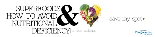 save your spot for the superfoods webinar on Yes Wellness