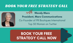 Book Your Free Strategy Call with Wendy Marx, President and Founder of Marx Communications and Top 50 Woman on Twitter.