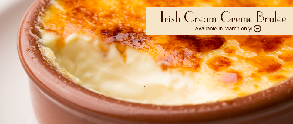 Bailey's Irish Cream Creme Brulee for St Patrick's Day