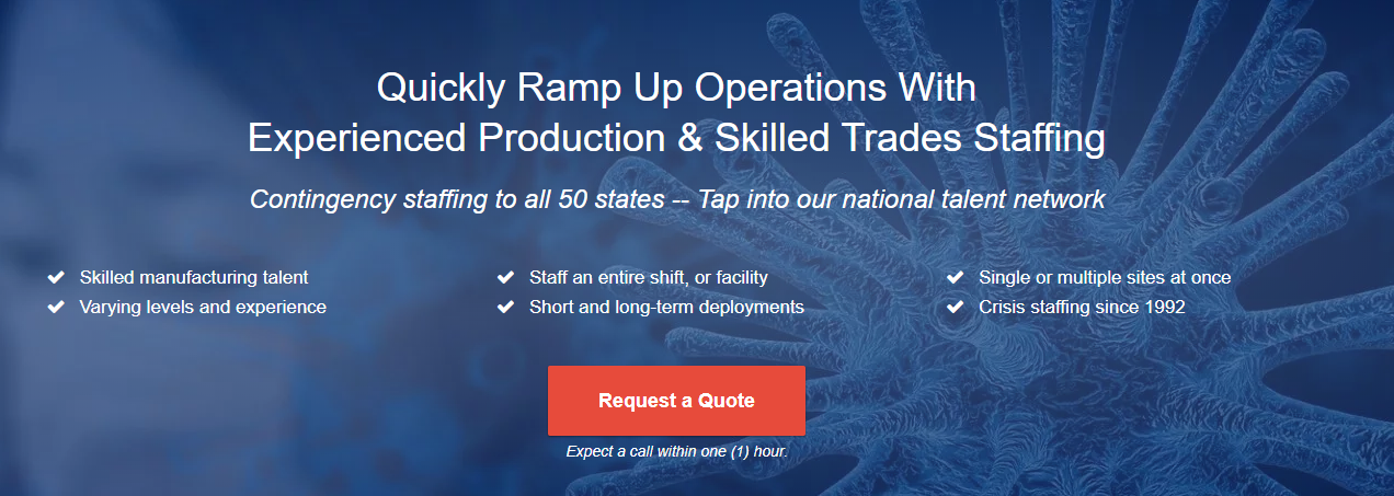 Ramp up operations quickly, get quote now