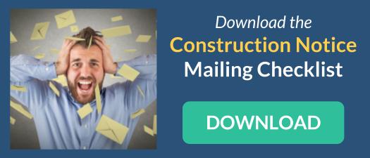 Construction Notice Mailing Checklist