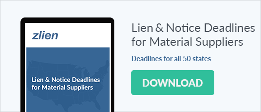 Lien and notice deadline chart for material suppliers - download