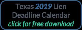 Download the 2018 Texas Lien Deadline Calendar
