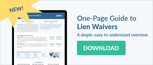 Download the One-Page Guide to Lien Waivers