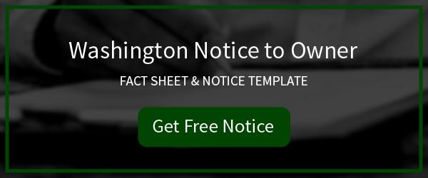 Download Washington Notice to Owner