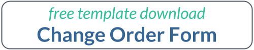 Change Order Form - Free Template Download