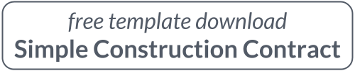 Simple Construction Contract - Free Template Download