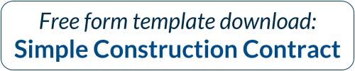Free Template Download: Simple Construction Contract