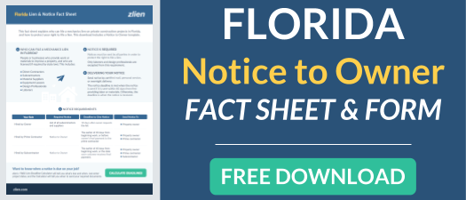Download Florida Notice to Owner fact sheet and form