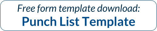 Free form download: Punch List Template