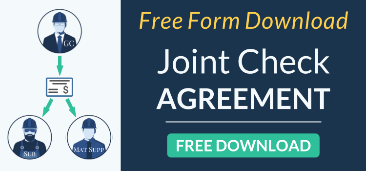 Joint Check Agreement Free Template