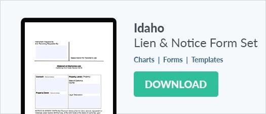 Idaho Mechanics Lien & Notice Forms Download