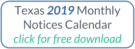 Download the 2018 Texas Monthly Notice Calendar