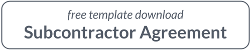 Simple Subcontractor Agreement - Free Template Download