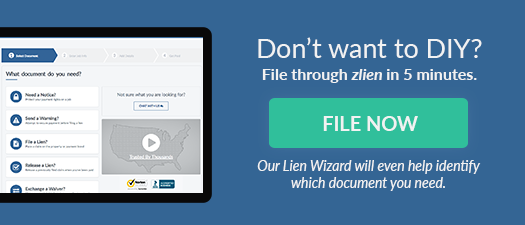 Don't want to download a form and DIY? File through zlien