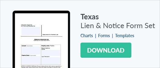 Texas Notice of Contract Retainage Form