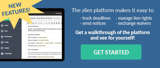 Get a walkthrough of zlien's lien rights management platform