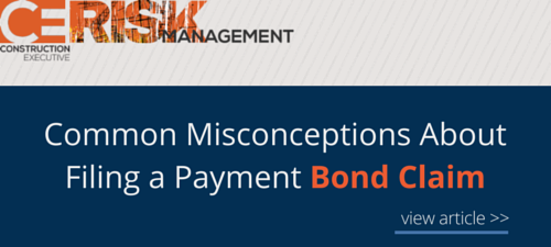 Common Misconceptions About Filing a Payment Bond Claim