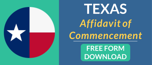 Texas Affidavit of Commencement Free Form Download