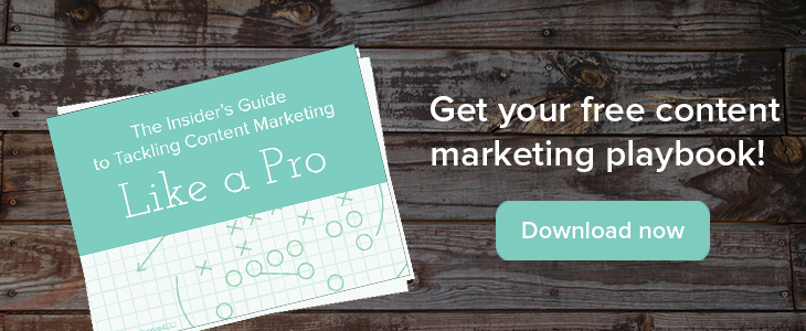 Download your free guide to tackling content marketing like a pro!