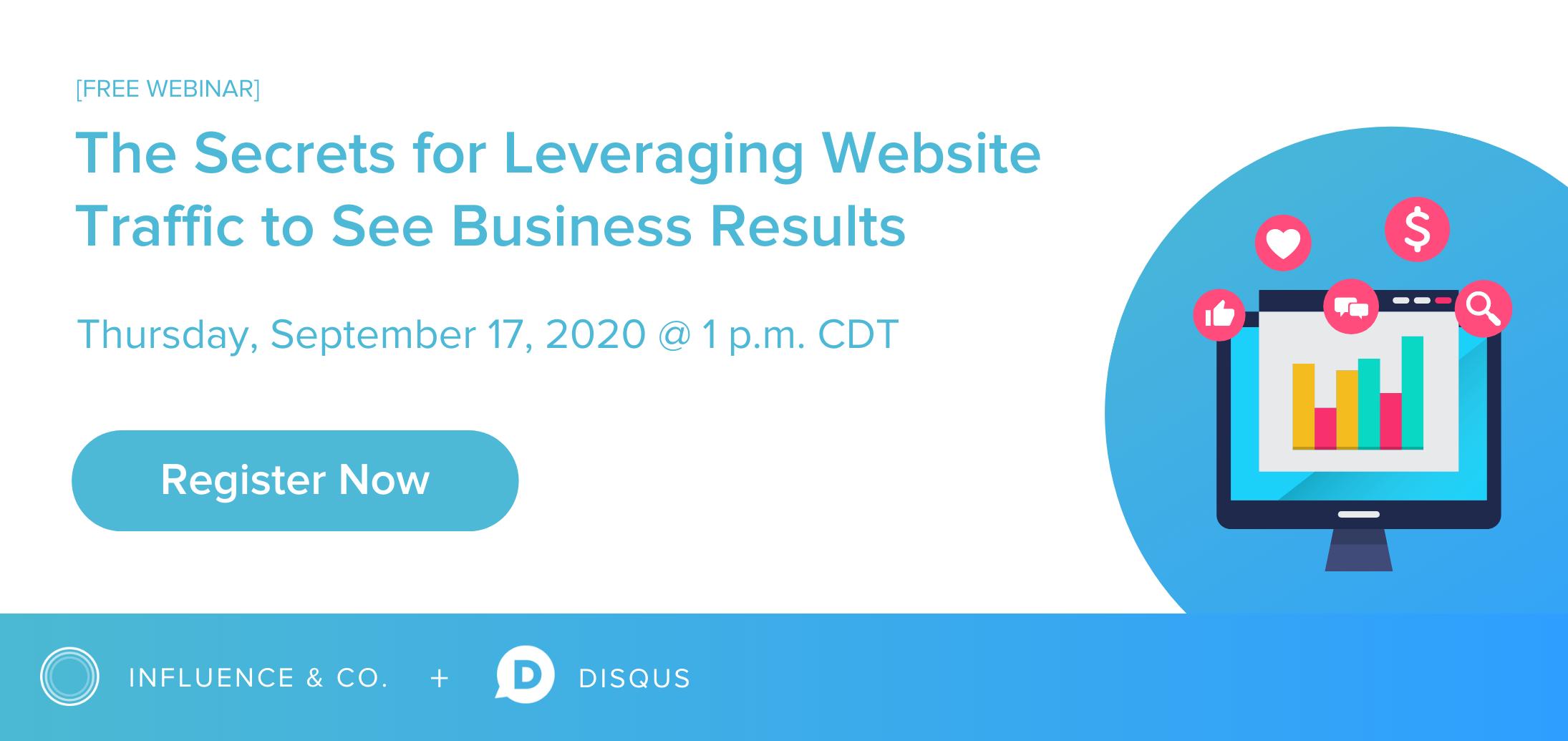 Register for Webinar: The Secrets for Leveraging Website Traffic to See Business Results