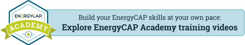 Explore EnergyCAP Academy training videos