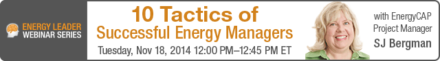 WEBINAR: 10 Tactics of Successful Energy Managers