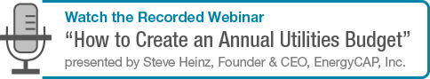 Watch the Webinar on creating an annual utilities budget.