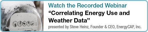 Watch the Video on Correlating Energy Use and Weather Data