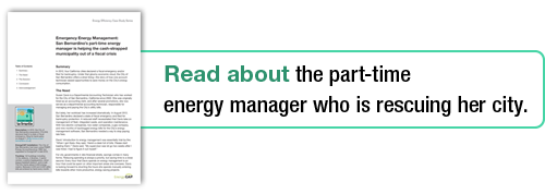 Read about the part-time energy manager