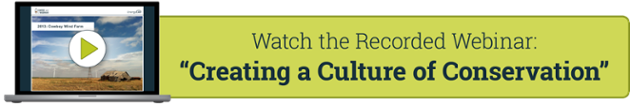 Watch the Webinar: Creating a Culture of Conservation