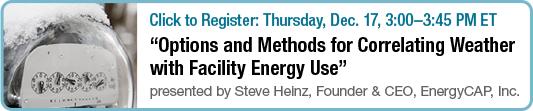 Webinar - Correlating Weather with Facility Energy Use
