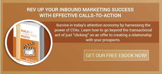"Rev up your inbound marketing success with effective calls-to-action Surivie in today's attention economy by harnessing the power of CTAs. Learn how to go beyond the transactional act of just ""clicking"" on an offer to creating a relationship with your prospects. Download your free eBook today!"
