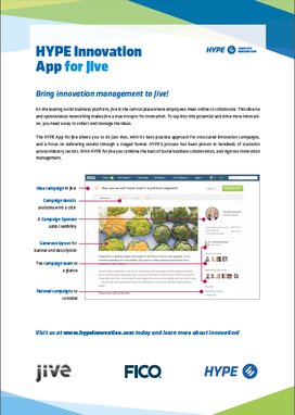 Download the Jive FICO and HYPE Brochure