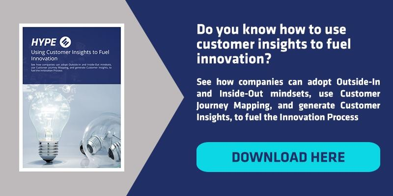 CTA to download HYPE E-book about customer insights for innovation