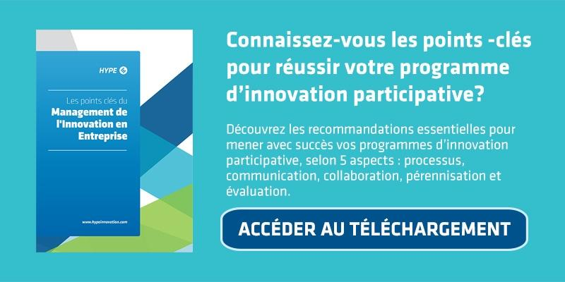bouton pour télécharger une brochure sur l'innovation participative