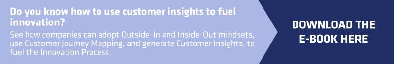 Call to action to download HYPE E-book about customer insights for innovation