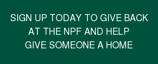 Sign Up Today to Give Back at the NPF and Help Give Someone a Home