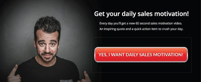 Get a daily sales motivation video via email