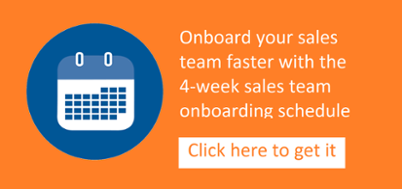 4-week sales team onboarding schedule