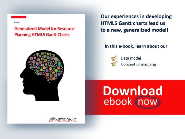 E-book: Generalized Model for Resource Planning HTML5 Gantt Charts