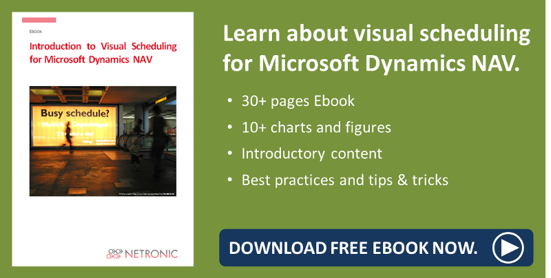 Ebool visual scheduling for Microsoft Dynamics NAV