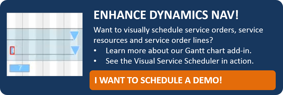 Visual Service Scheduler for Dynamics NAV - schedule your demo