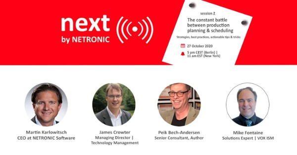 next by NETRONIC - live event with and for manufacturing experts