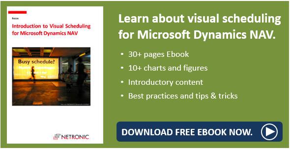 Ebook visual scheduling for Microsoft Dynamics NAV